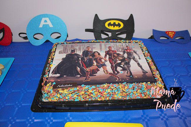tarta de cumpleaños de superhéroes
