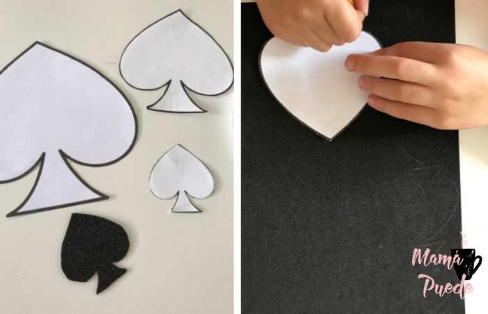 como hacer las picas para una carta de goma eva