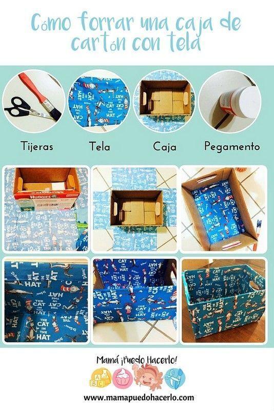 Caja forrada con tela htm diy mam puedo hacerlo for Forrar cajas de carton con tela