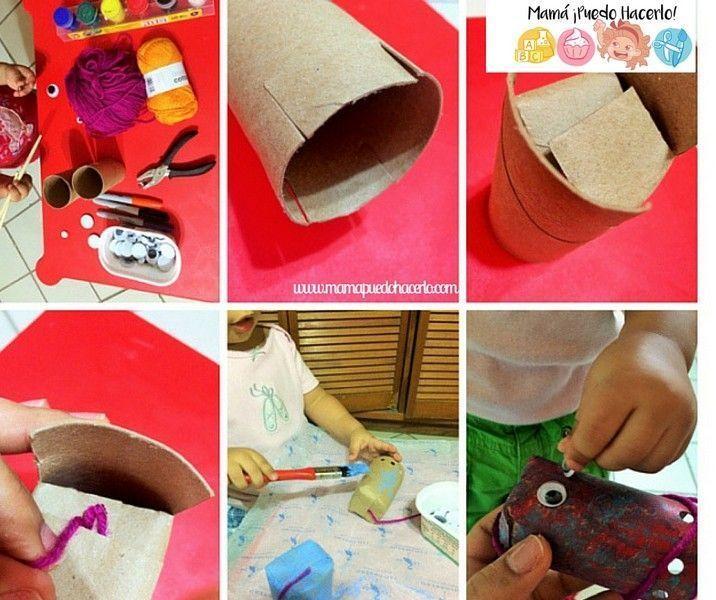 Títere de tubo de cartón - Pulpo Bailarín