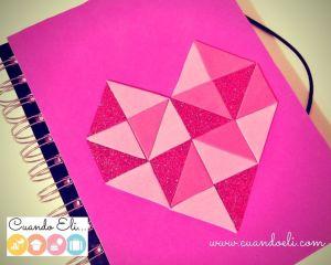 Libreta Decorada con Corazón Geométrico