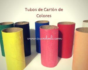 tubos de carton de colores