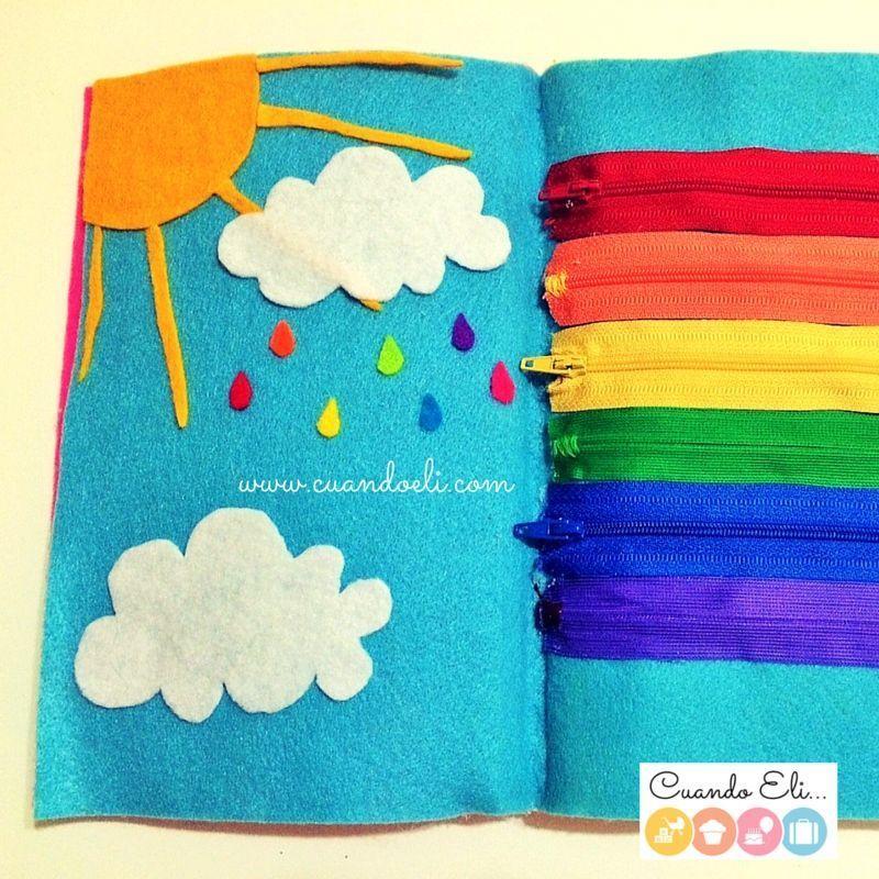 Arcoiris Cremallera Quiet Book