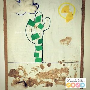 Collage Infantil : El Cactus