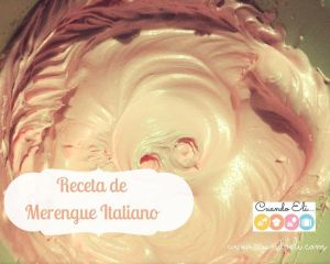 Receta de Merengue Italiano