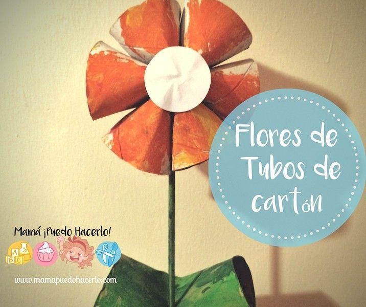 Flores de Tubos de Carton (2)