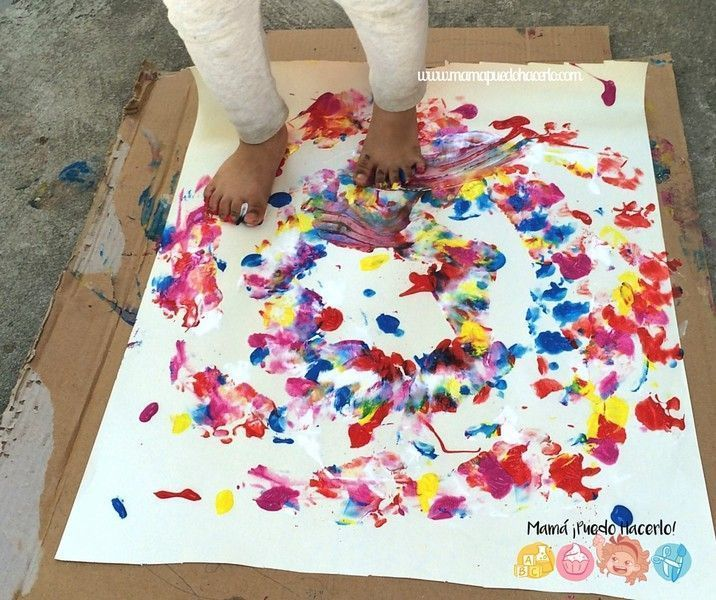Pintar con los pies