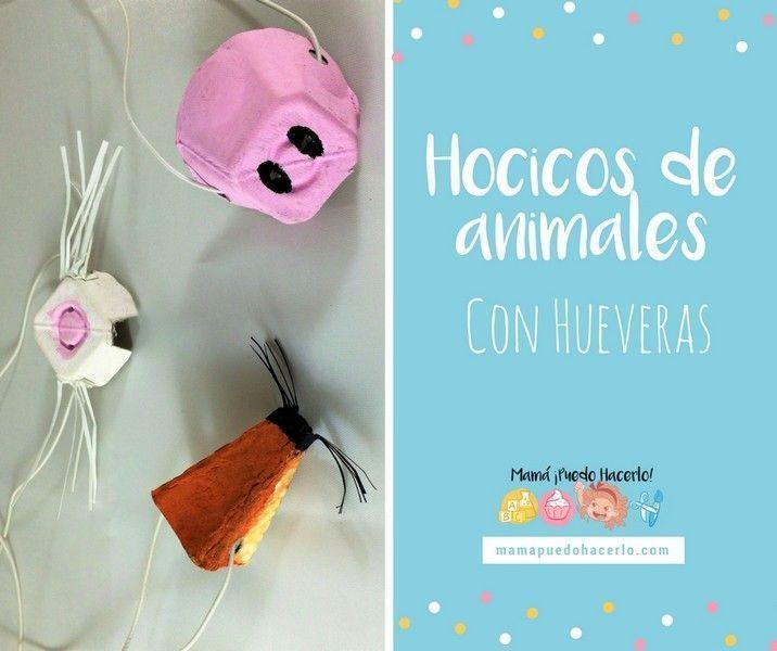 hocicos de animales con hueveras
