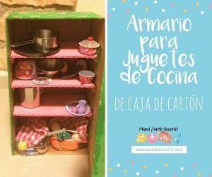 Armario de Cartón para Juguetes de Cocina