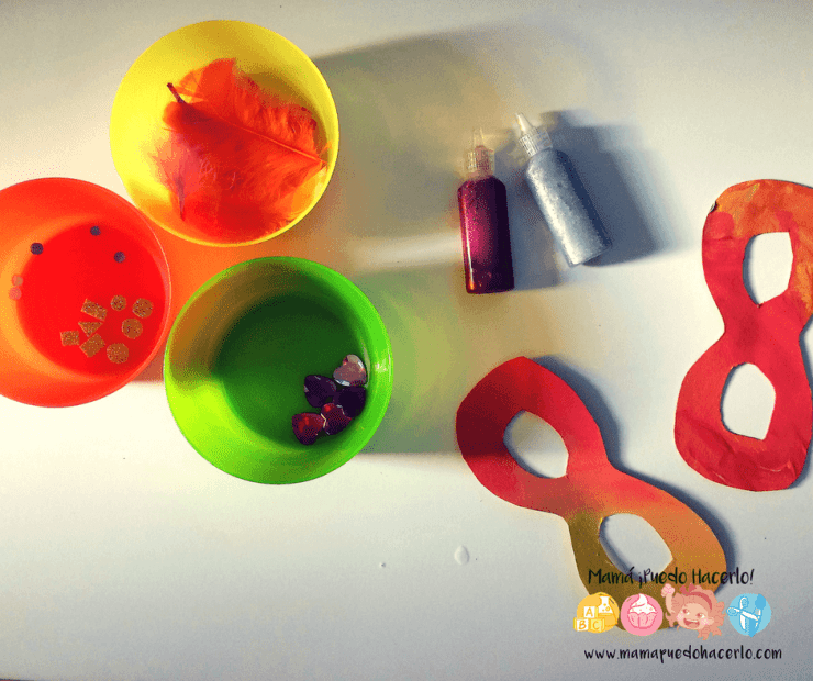 Antifaz para niños de cartón