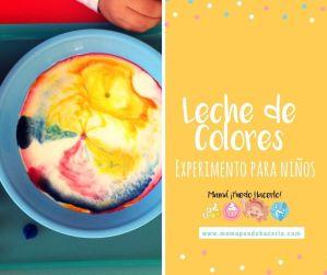 Leche de Colores Experimento para Niños