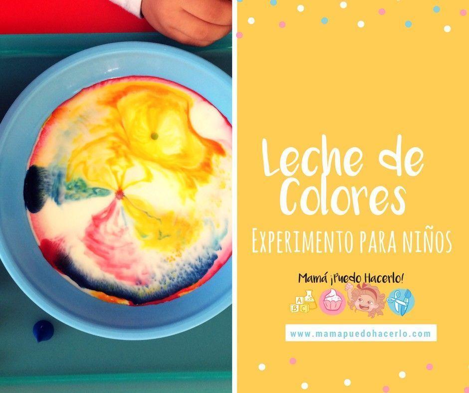 Leche De Colores Experimento Para Ninos Mama Puedo Hacerlo
