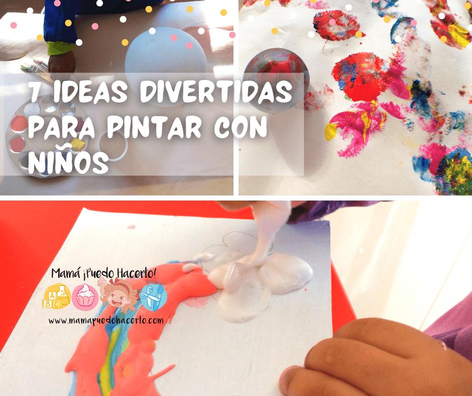 7 Ideas Divertidas para pintar con niños