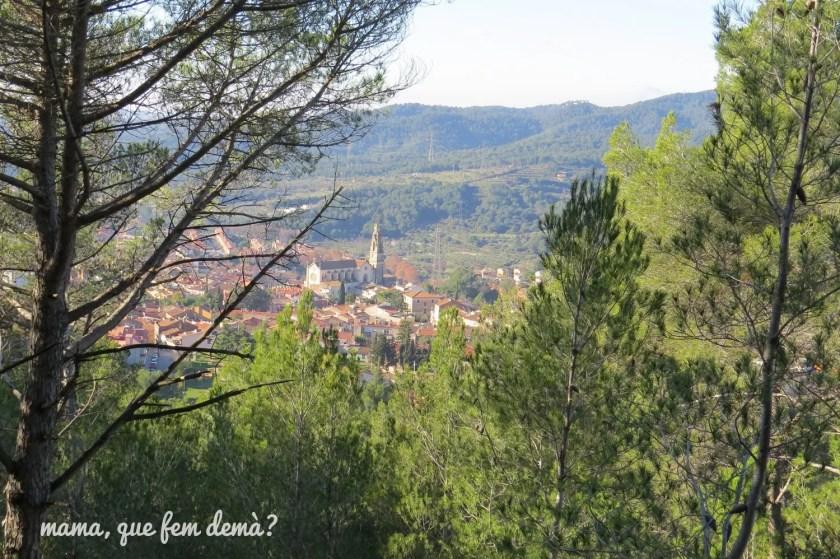 vistas de castellar valles desde puig de la creu