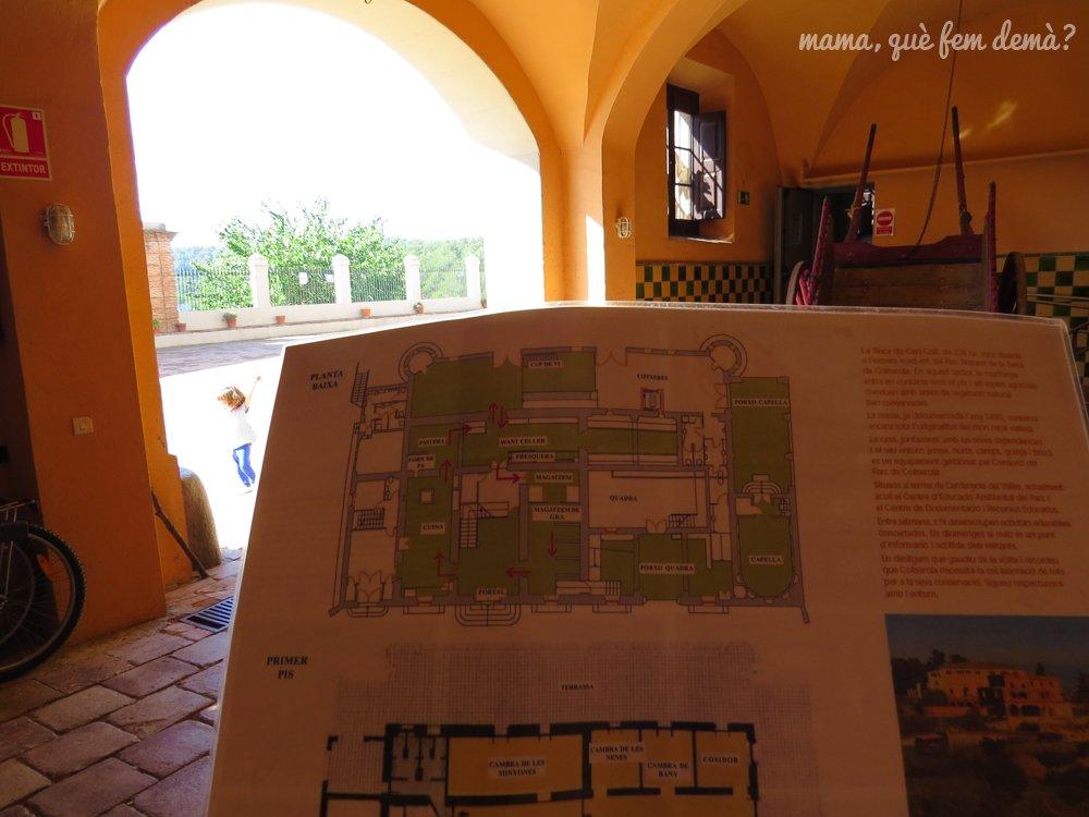 Mapa de las estancias de la Masía de Can Coll en Cerdanyola del Vallès
