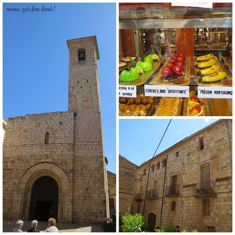 Església de Sant Miquel, y la Pastelería Viñas de Montblanc
