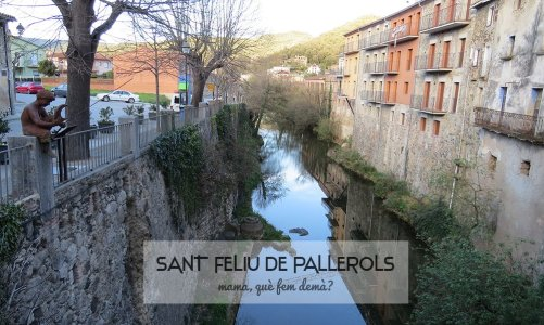 Sant Feliu de Pallerols y el Pescallunes (Garrotxa)