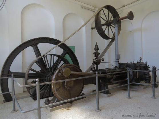 Máquina de vapor de la Colònia Vidal.