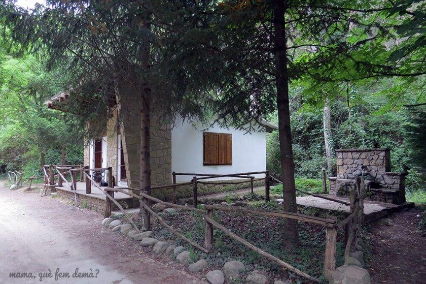 Casa de pescadores en el Pont de Pedret