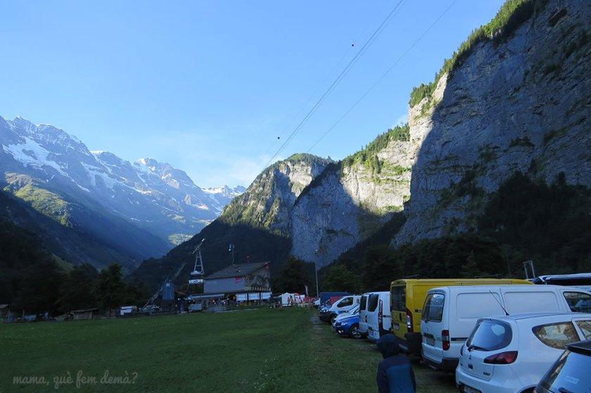 Aparcamiento en Stechelberg