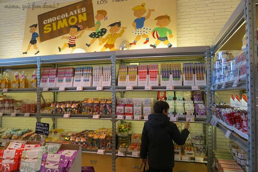 Tienda del Espai Xocolata Simón Coll