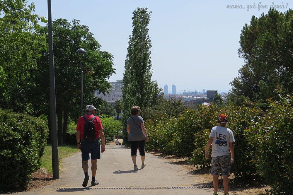 Vistas desde el Parc de Cervantes de Barcelona