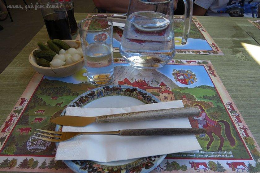 comida en Gruyères