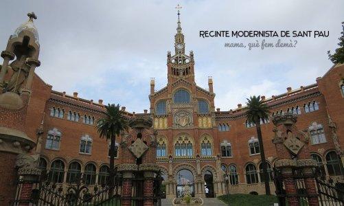 Recinte Modernista Sant Pau con niños