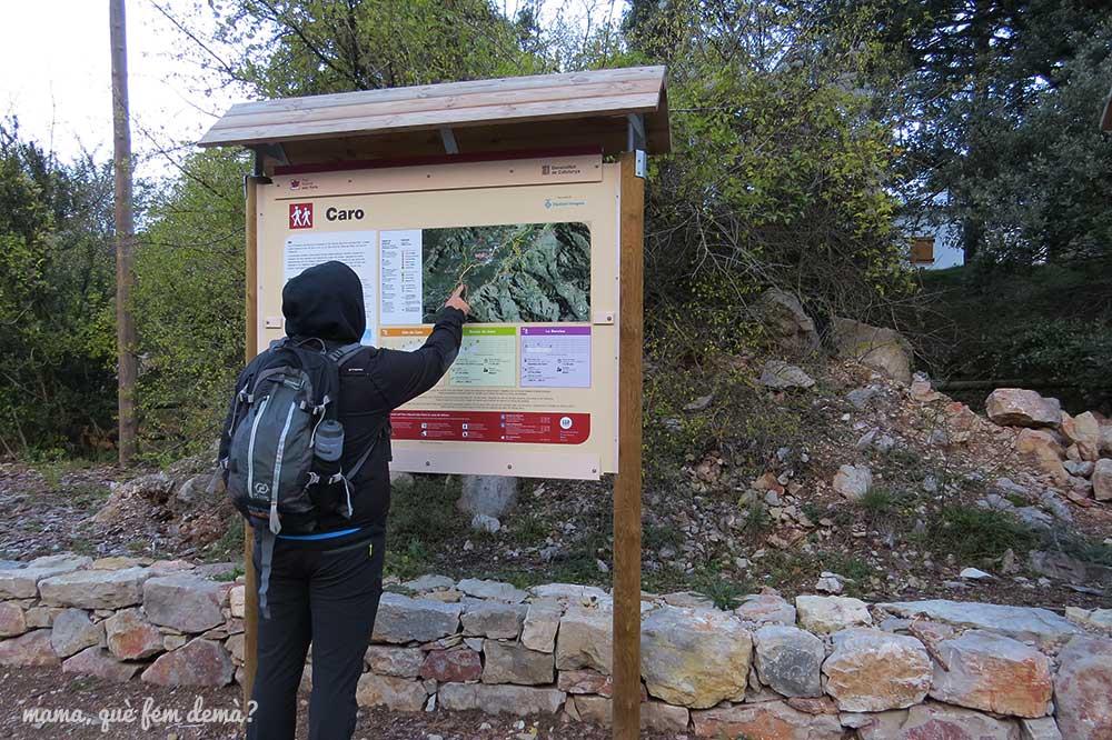 letrero indicador ruta del mont caro