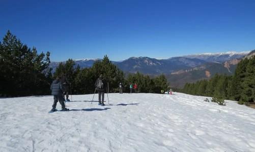 Raquetas de nieve con niños en Rasos de Peguera
