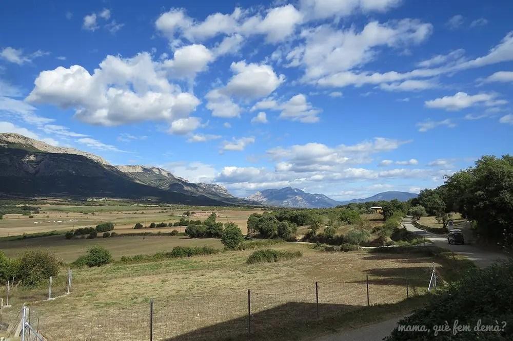 Serra del Montsec desde Agulló