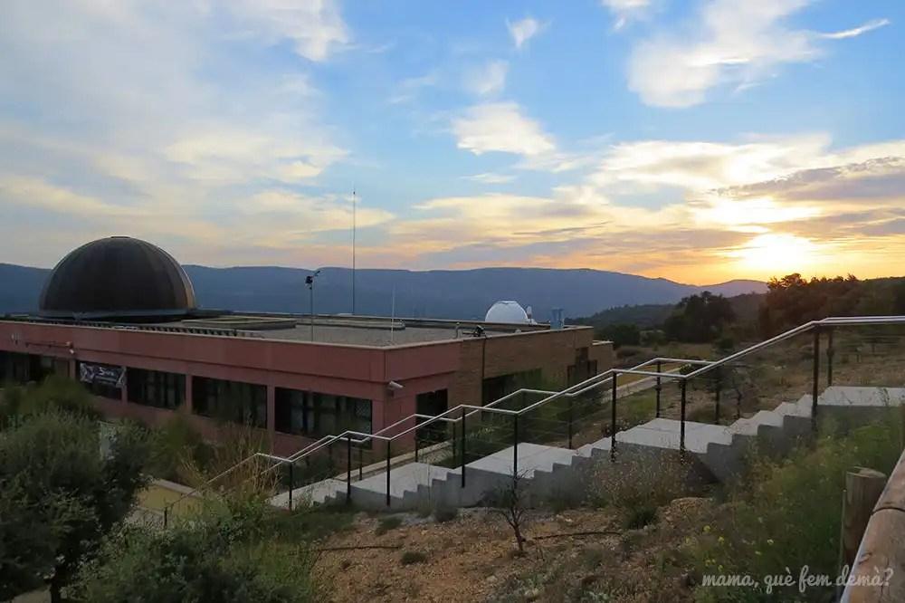 Atardecer desde el exterior del Parc Astronòmic del Montsec