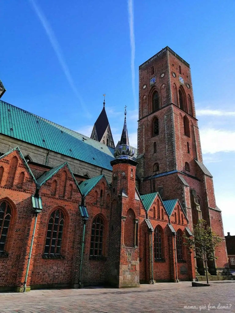 Lateral de la catedral de Ribe con su torre