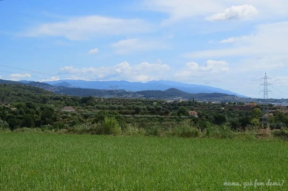 Vistas del Montseny desde el Castell de Sentmenat