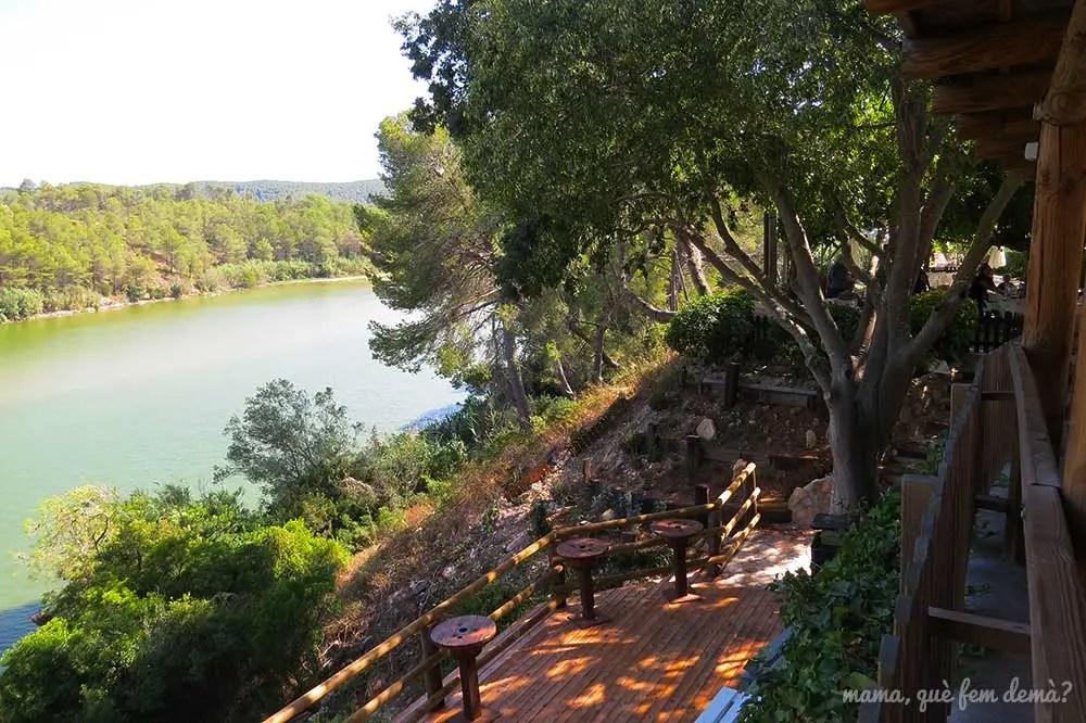 Terraza del restaurante el Barretet