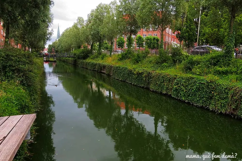 río Aarhus al lado del parque Mølleparken
