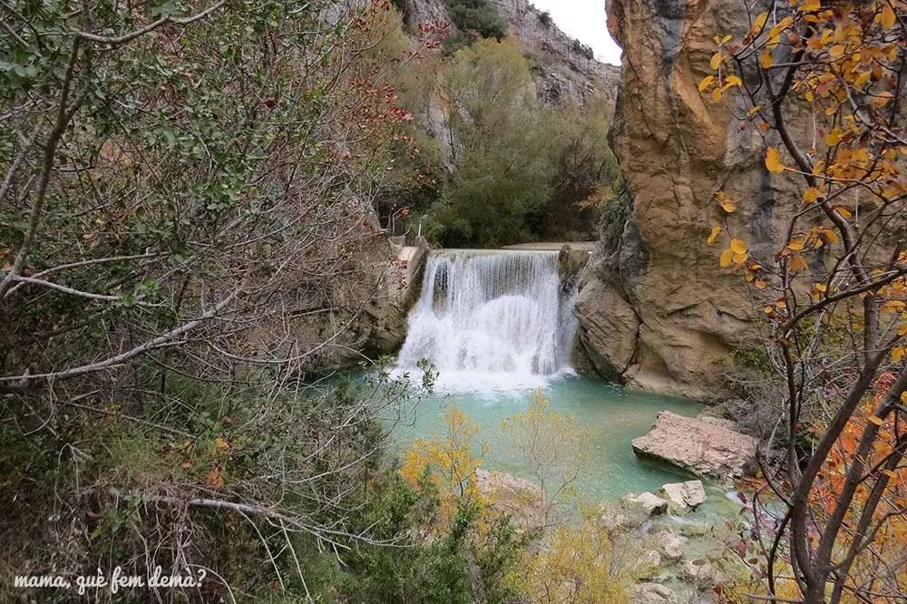 Cascada en la excursión de las pasarelas del Vero en Alquézar