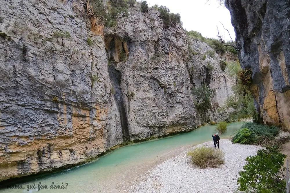 Tramo de la ruta de las pasarelas de Alquézar