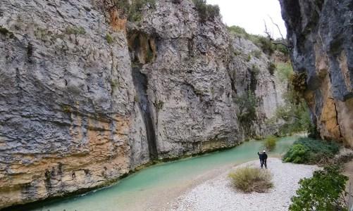 La ruta de las pasarelas del río Vero en Alquézar, Huesca