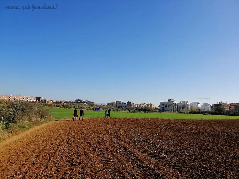 barrio de Cann Llong desde el Parc Agrari de Sabadell