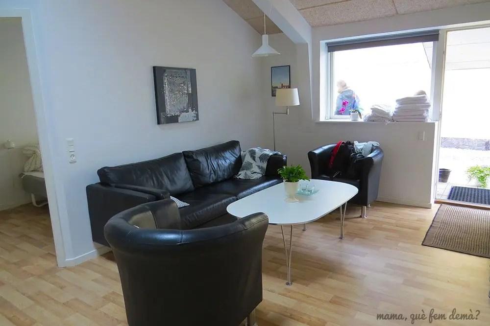 Sala de estar de los  apartamentos Fitting Landsbyferie en Vorbasse
