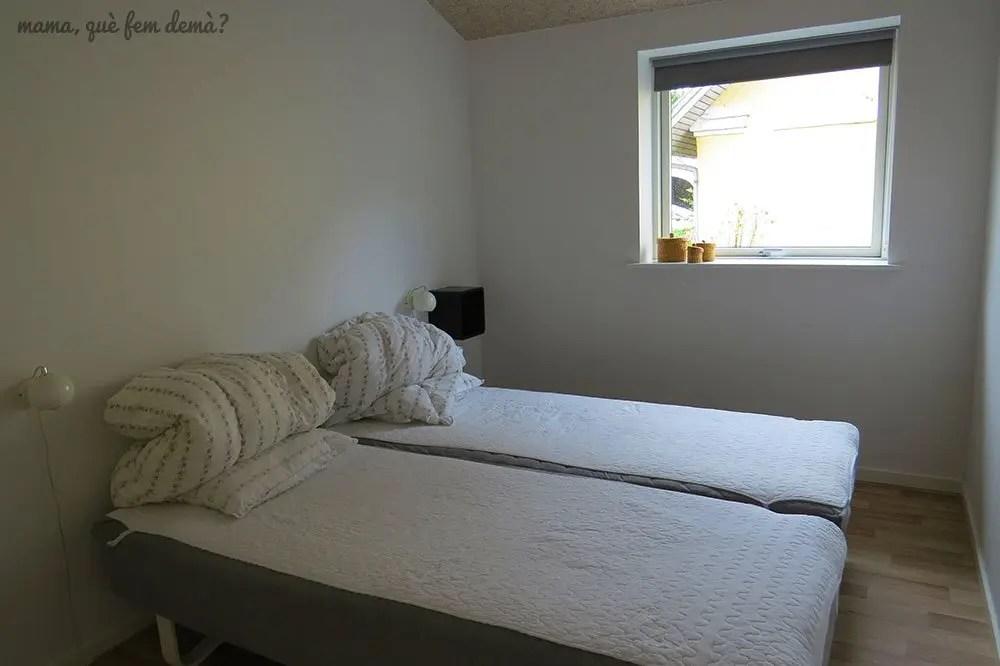 Dormitorio de los apartamentos Fitting Landsbyferie en Vorbasse