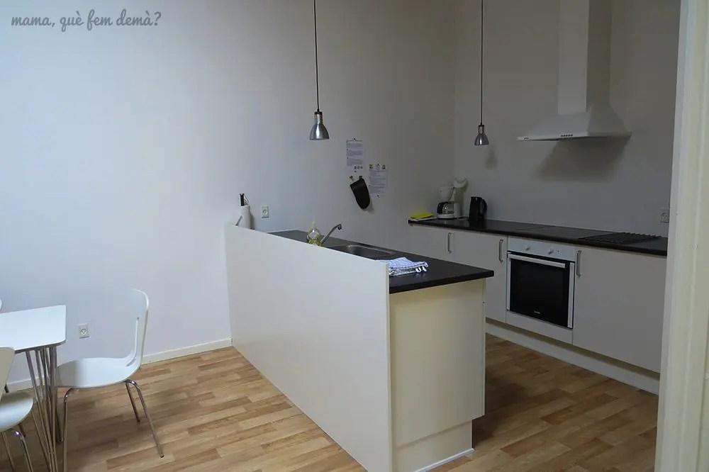 Cocina de los apartamentos Fitting Landsbyferie en Vorbasse