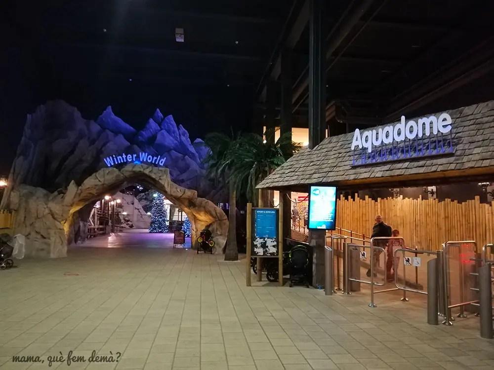 Entrada al Winter World y al parque acuático Lalandia Aquadome en Billund