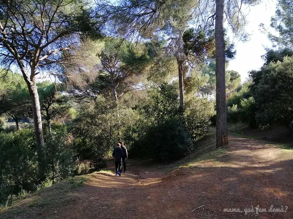 Desvío del camino que lleva al río Ripoll por el barrio de Can Deu de Sabadell