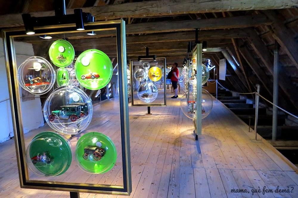 Exposición de juguetes de época en el Castillo de Egeskov