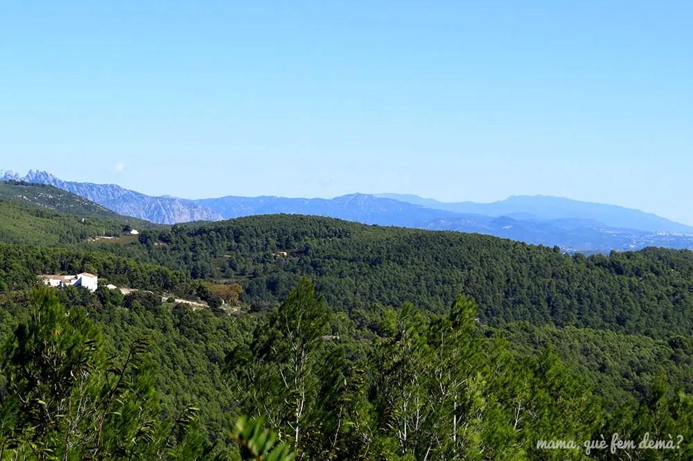 Vista de Montserrat desde el camino que lleva al Santuari del Foix