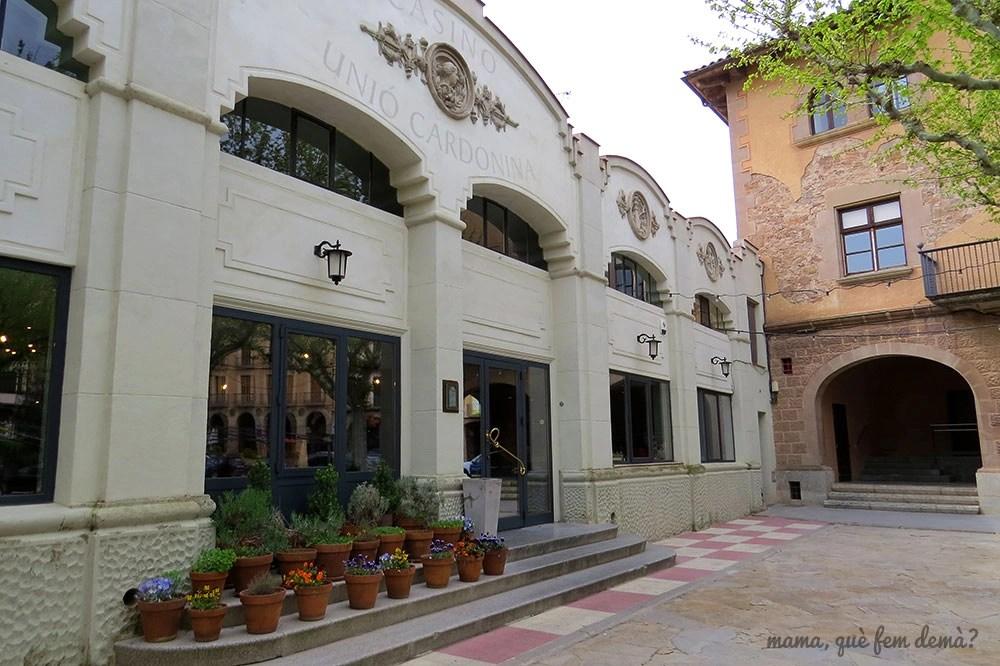 exterior del Casino Unió Cardonina de Cardona