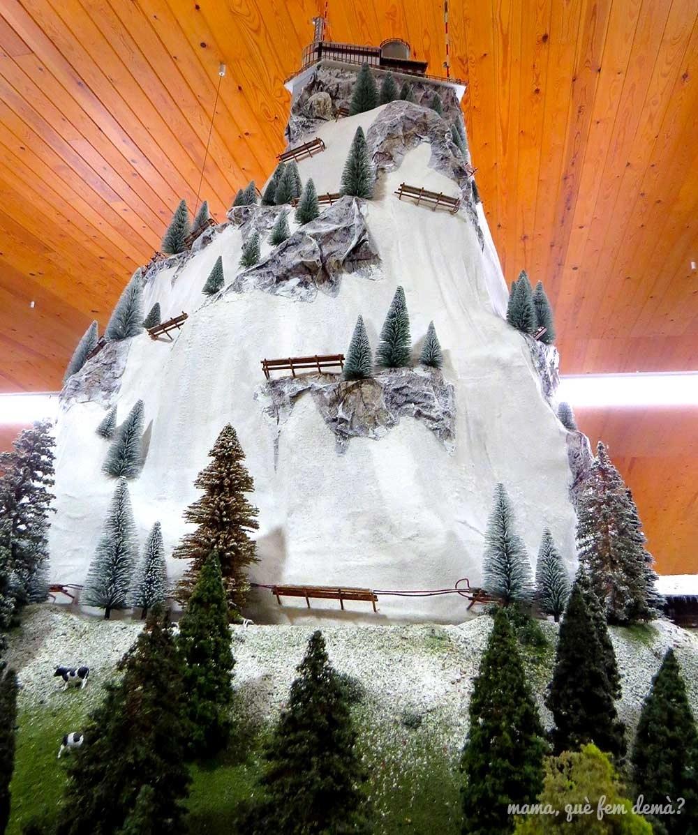 Maqueta del Jungfrau en el Railhome BCN