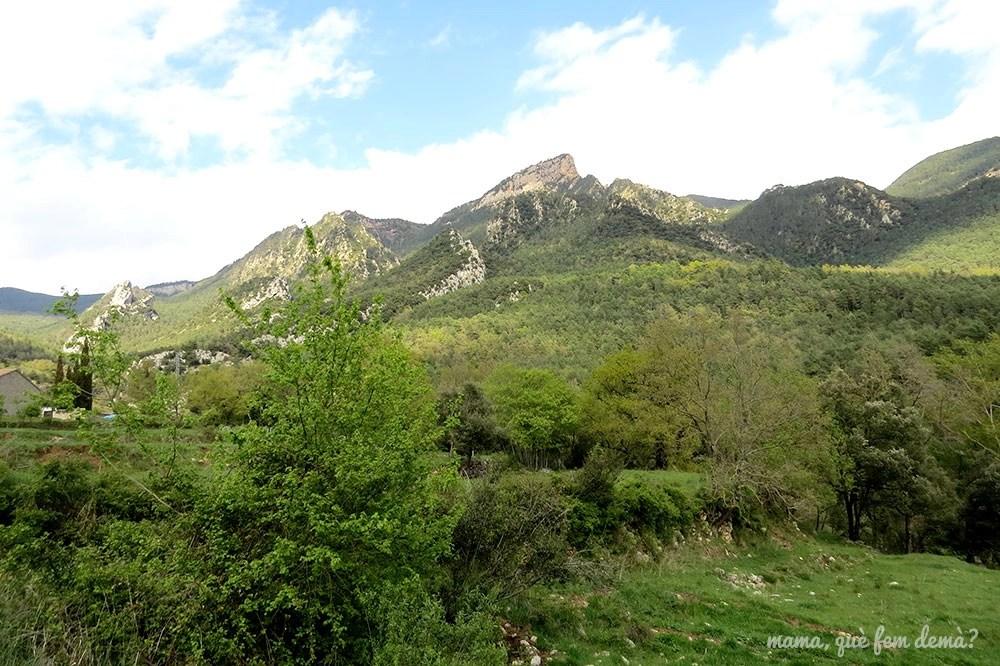 Vistas desde el Santuario de Lourdes de la Nou del Berguedà